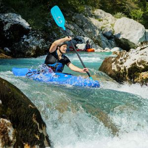 Guided kayak trip in Bovec