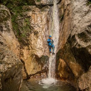Playful canyoning in Susec canyon