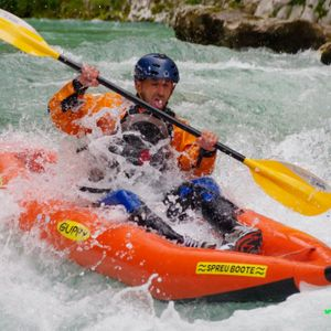 Whitewater kayak trip on Soca