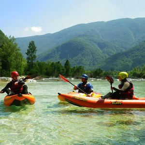 Easy whitewater kayak tour