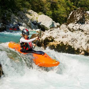 Kayak course in Bovec