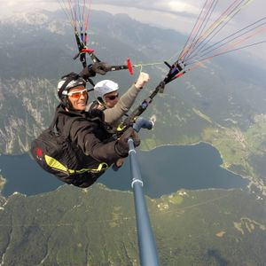 Tandem flight over Bohinj lake